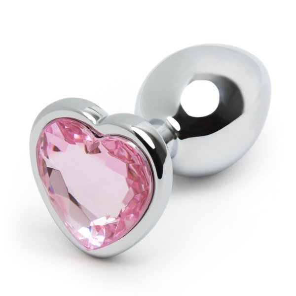 Lovehoney Jeweled Heart Metal Beginner's Butt Plug 2.5 Inch