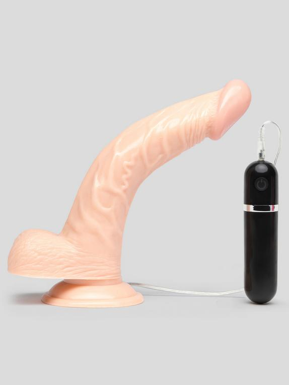 Lifelike Lover Classic Curved Realistic Dildo Vibrator 8 Inch