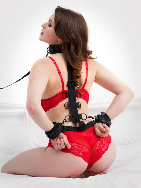 Bondage Boutique Black Rose Restraints Harness
