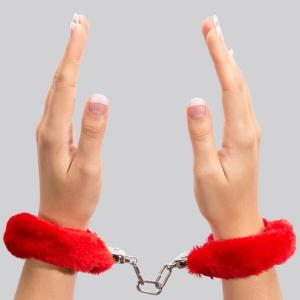 Lovehoney Red Furry Handcuffs