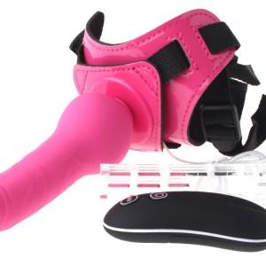 "6.3"" Electric Vibrating Adjustable Harness Strap-on Dildo"