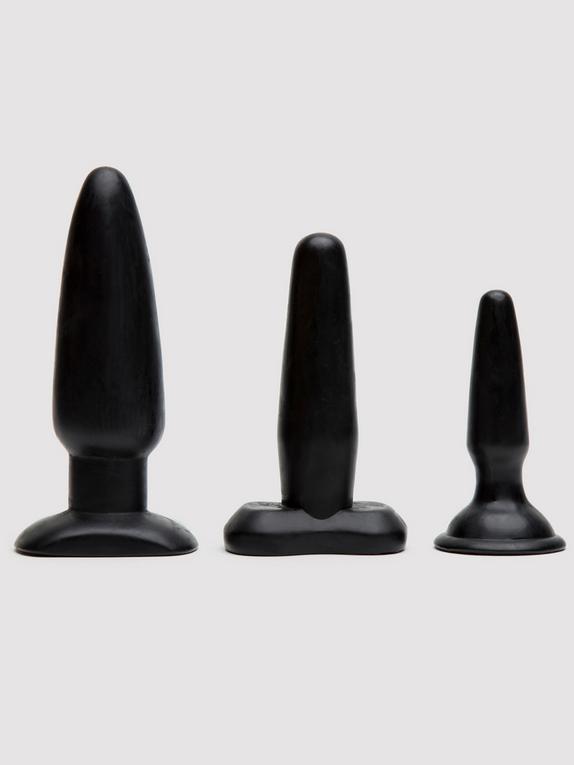 Liquorice Dip Butt Plug Set (3 Piece)