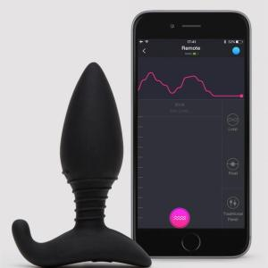 Lovense Hush App Controlled Rechargeable Vibrating Butt Plug 3.5 Inch
