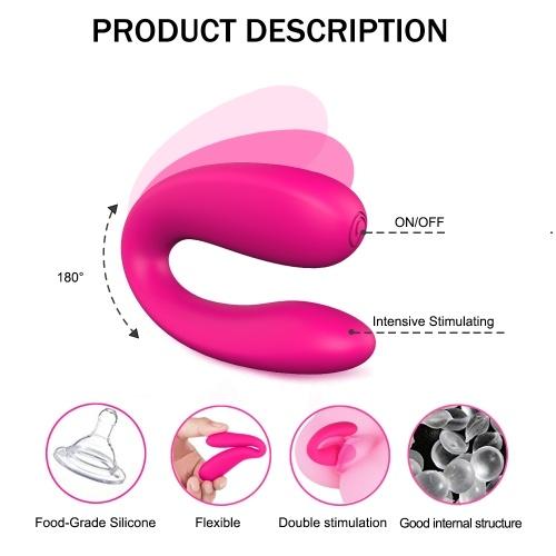 U Shape Dildo Vibrating G-spot Vibrator Clitoris Strong Stimulation Vaginal Orgasm Anal Vibrators Love Egg Masturbation Device Adult Sex Toys for Woman