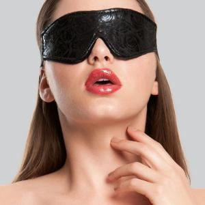 Bondage Boutique Black Rose Faux Fur Lined Blindfold