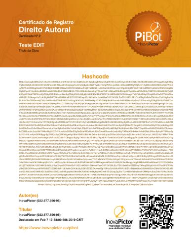 Certificado digital de direito autoral