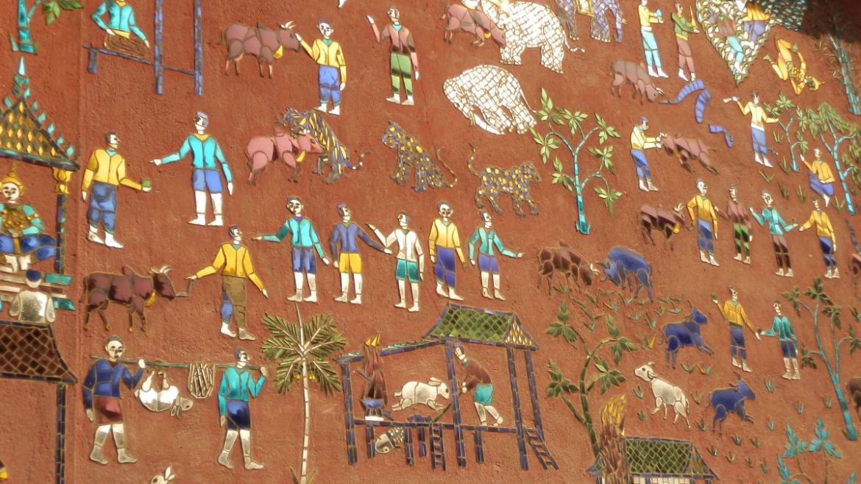 Sztuka na świątyniach w Luang Prabang