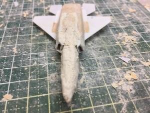機首の裏側