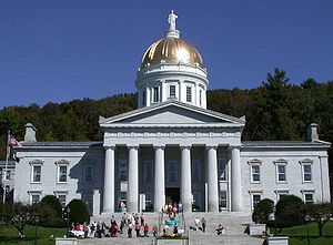 Front view of the Vermont State House (taken S...
