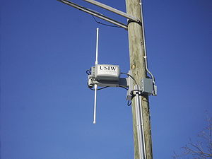 A photograph of a metro Wi-Fi antenna in Minne...