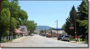 Main Street in Ten Sleep, WY
