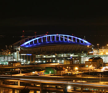 Picture taken by me of Qwest Field at night fr...