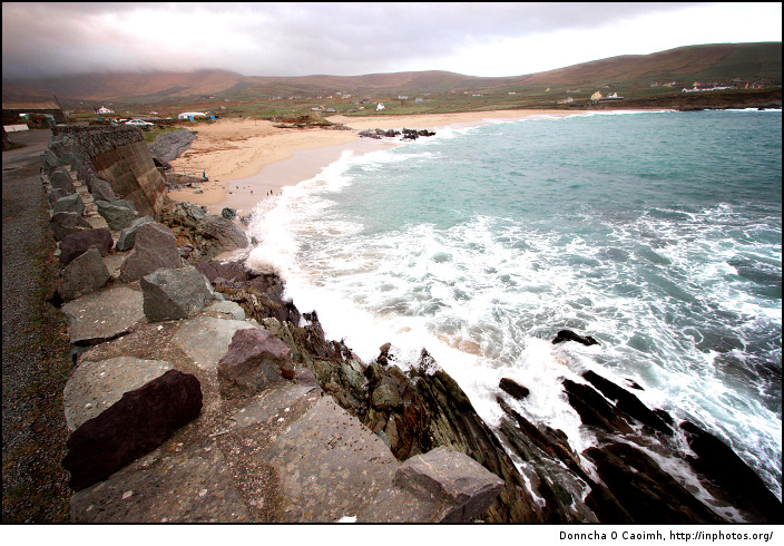 Waves crash at Allihies