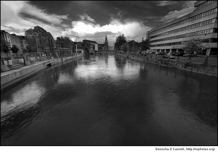 The river in black and white