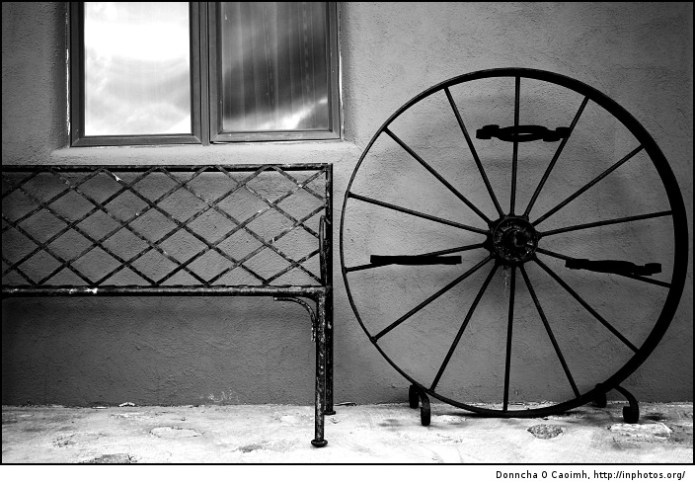 bench and wheel
