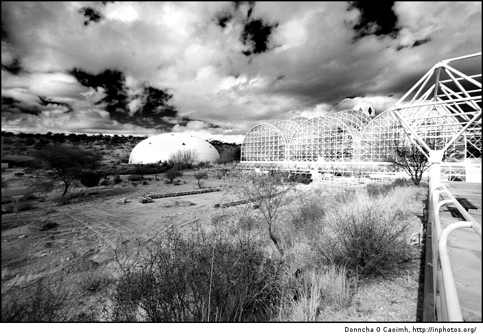 Biosphere 2 desert and sky