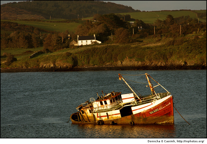 Mulroy Bay II stranded in the evening sun