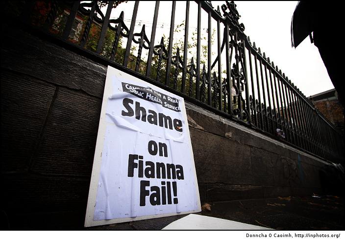 Shame on Fianna Fail