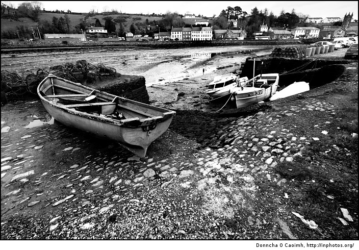 Bantry Boats in Black and White