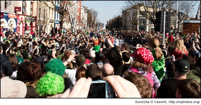 patricks day crowds