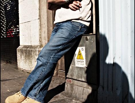 Man Enjoy Cigarette