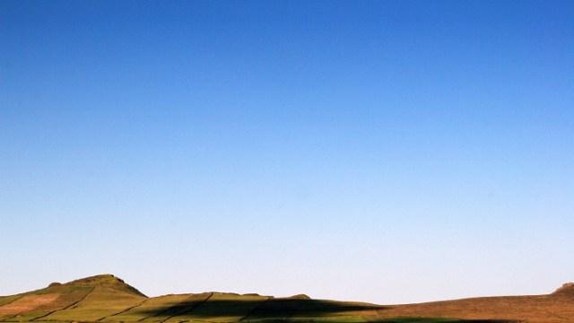 Shadows of a blue sky