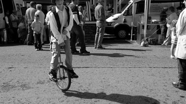 Fun on a unicycle