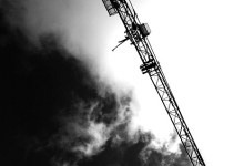 Craning to see the sky