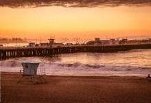 The waves of Santa Cruz