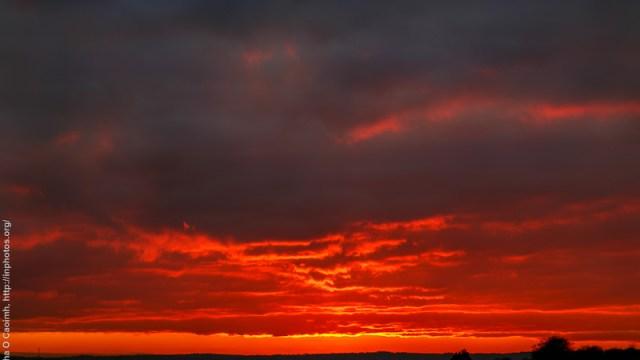 Sunset over Cork City