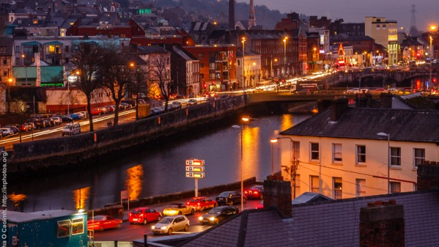Busy streets of Cork
