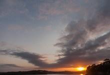 Sun sets over Kinsale