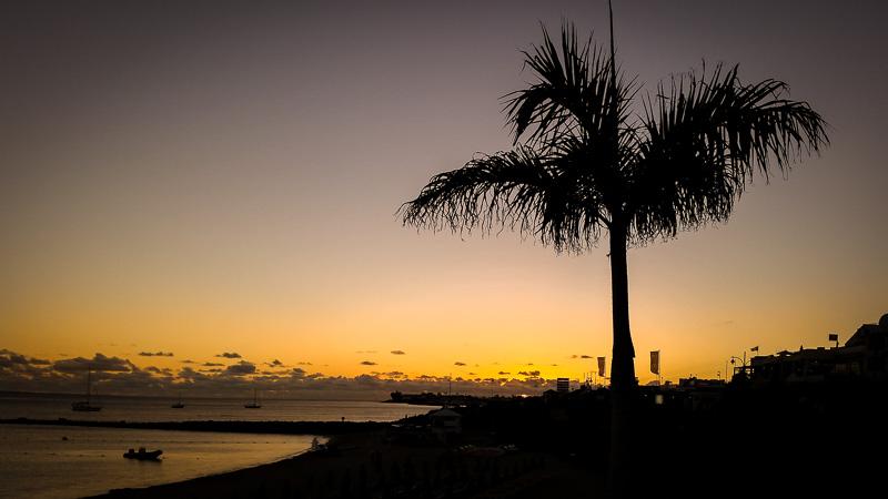 Sunset over Playa Blanca