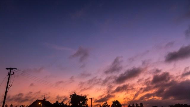 Sunset over Blarney