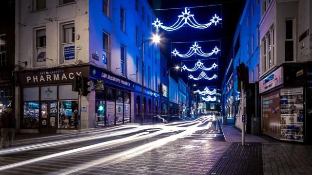 Light Trails on Academy Street