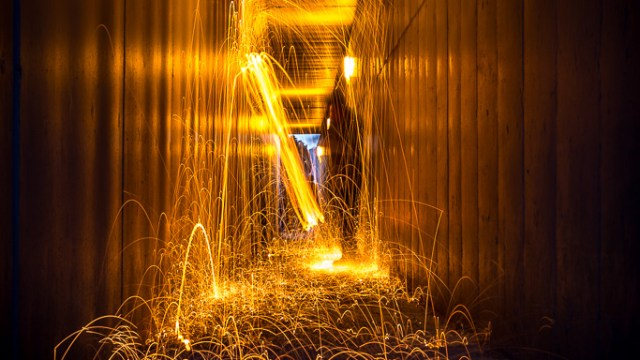 Wire Wool on Fire