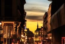 Madrid Streets at Sunset