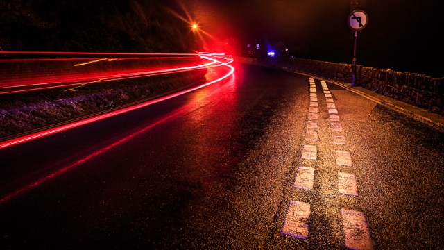 Light Trails in Wales