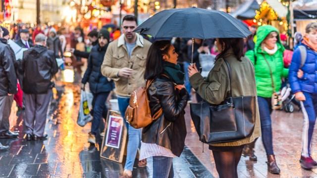 Umbrellas and Crowds