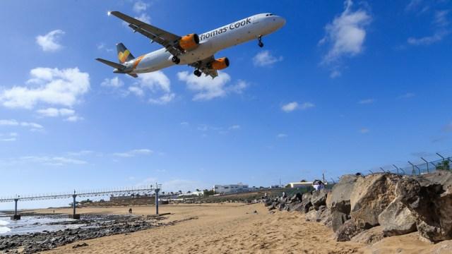 Landing at Lanzarote