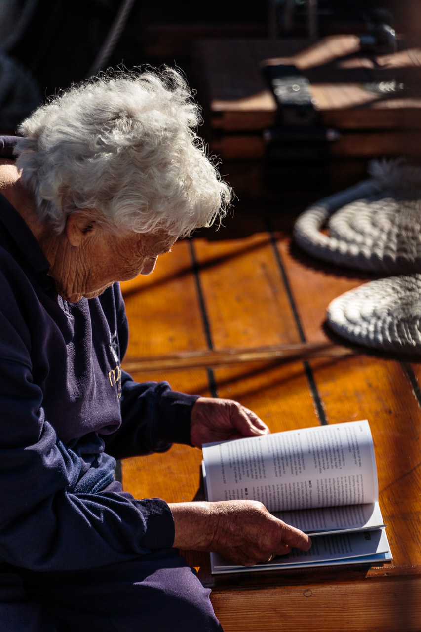 Reading a book on The Matthew