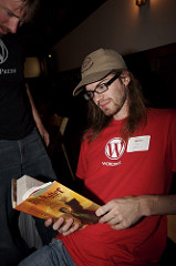 Reading Harry Potter at WordCamp