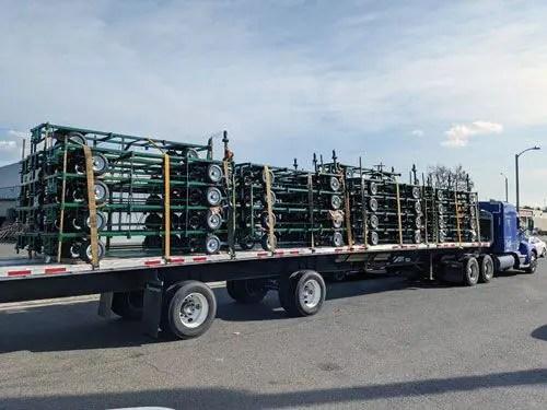 Green Lake Nursery truckload of custom trailers