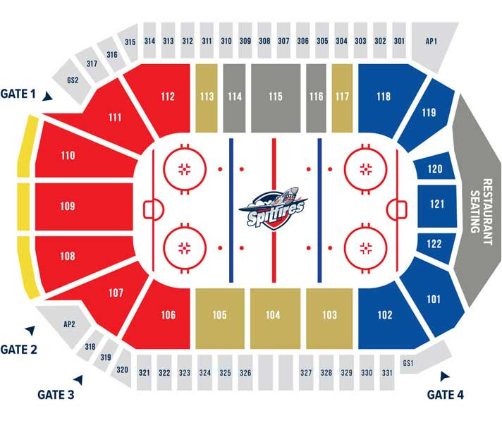 Seating Chart Wfcu Centre Windsor Spitfires In Play