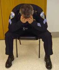 Police officer distressed