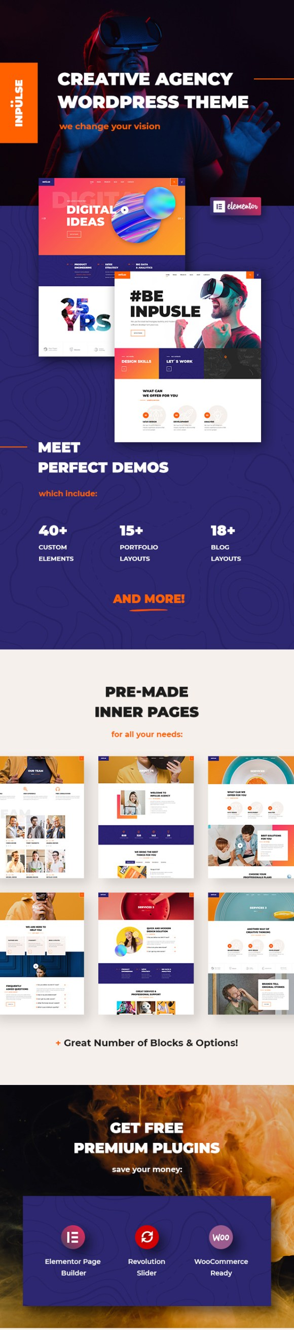 InPulse - Creative Agency WordPress Theme - 1