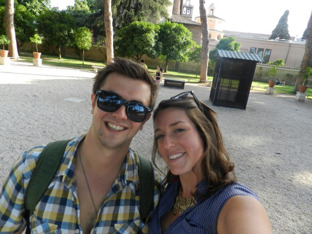 Alex and I at the Orange Garden