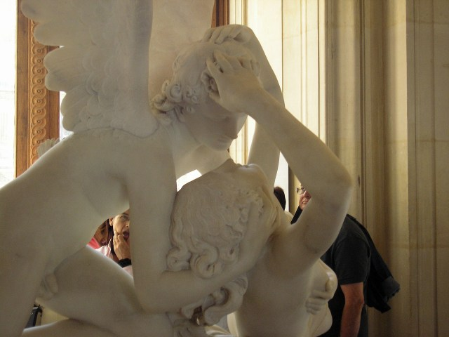 Psyche and Cupid in the Louvre. The Musee d'Orsay does not allow photos but the Louvre does, even of the Mona Lisa