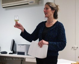 Nancy Gilchrist at dessert and wine matching at Leiths School of Food and Wine