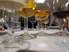 Under wine glass, dessert and wine matching at Leiths School of Food and Wine